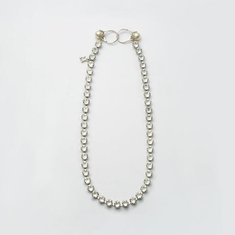 swarovski cut glass necklace (silver)