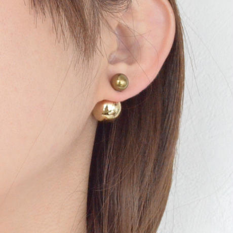 basic pearl rivets (8mm gold pearl × 14mm gold pearl)