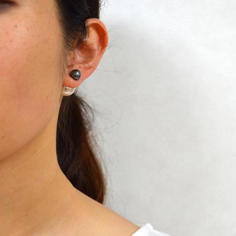 basic pearl rivets (8mm dark gray pearl × 14mm white pearl)