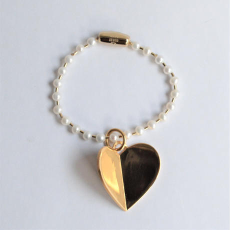 freshwater pearl ball chain bracelet (gold / S size: 18cm)
