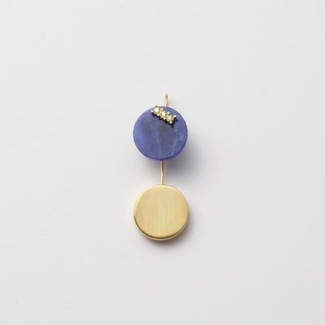 13mm sodalite / k10 post pierced earring