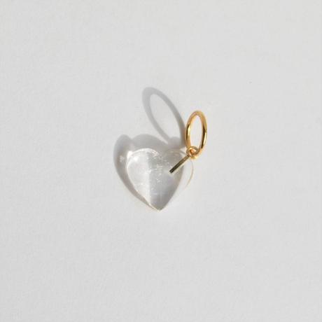 Heart charm (Quartz)