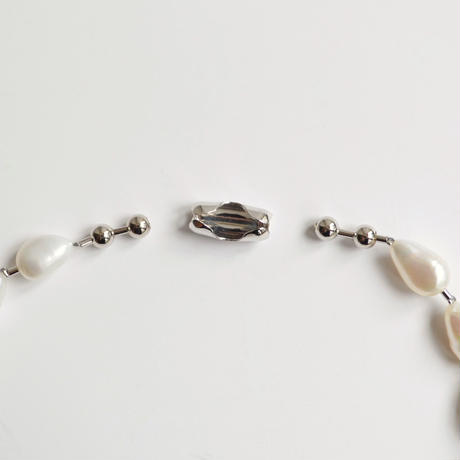 LIMITED COLLECTION 【Freshwater pearl ball chain necklace (middle)】