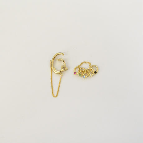 LIMITED COLLECTION【multi-color earring  ( gold )】