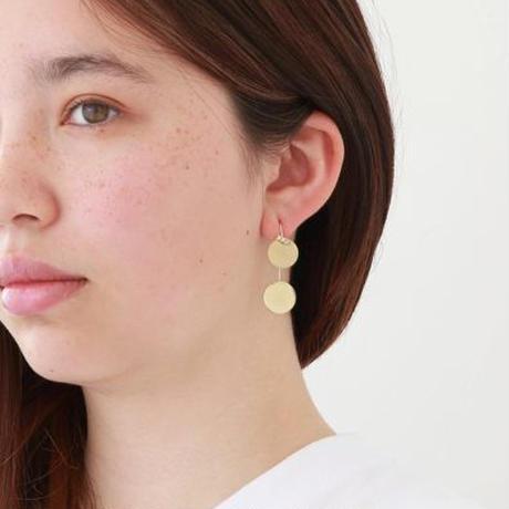 13mm circle / k10 post pierced earring