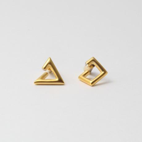 """""""MAYU×HARUNA KAWAGUCHI""""  triangle / square pierce"""