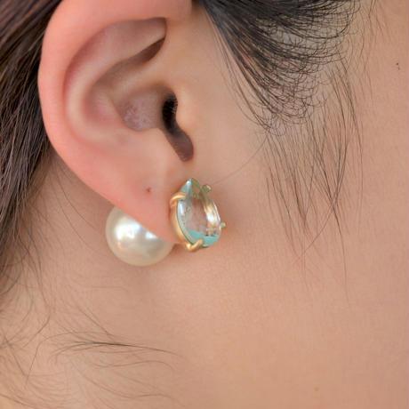 Crystal pierce turquoise line