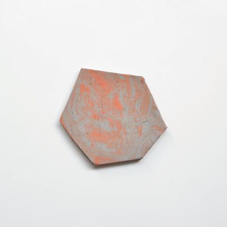 MAYU 15 TH Anniversary × Akiko Kizu  【Jewelry tray (hexagon / gray / brown)】