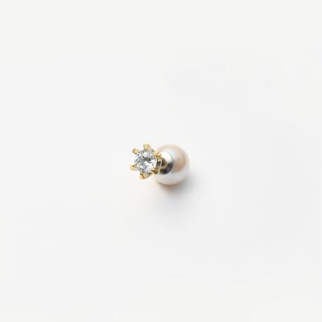 cubic zirconia pierce (small / gold)