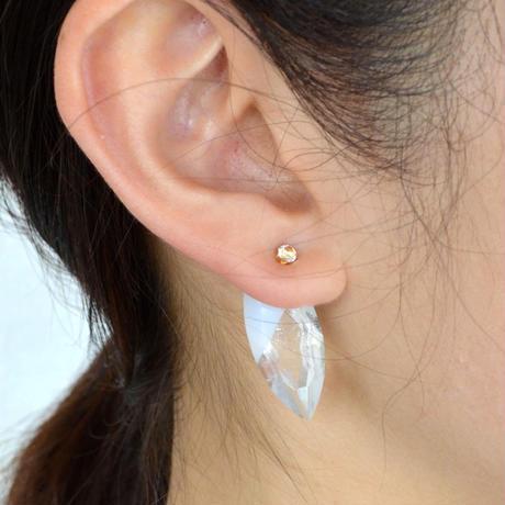 semi precious stone pierce (marquise / white)