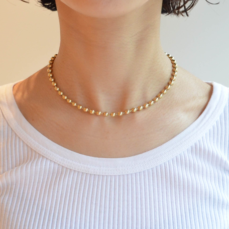 5mm ball chain necklace (gold / S size: 38cm)