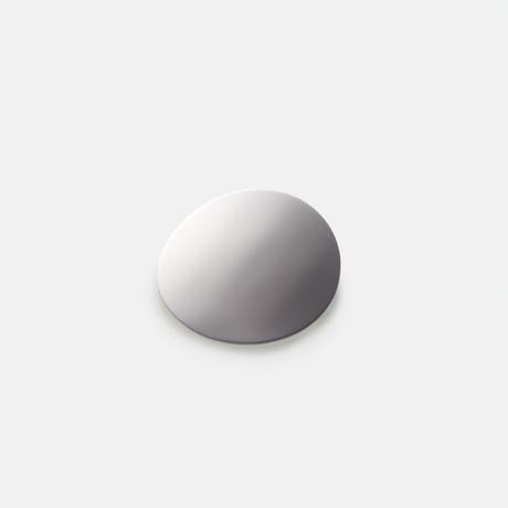 moon broach (40mm / mirror silver)