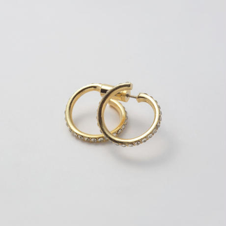 Diamond  line pierce(19㎜ line×19㎜ line/swarovski elements)