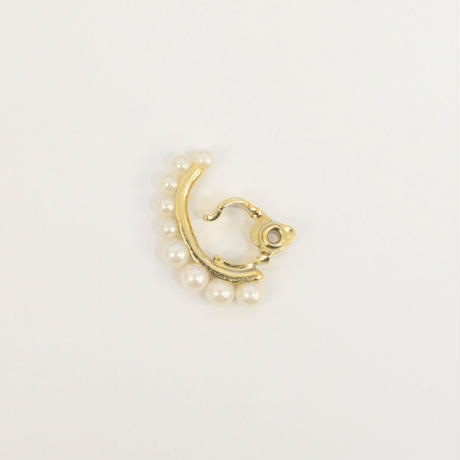 8 pearls earring (gold)