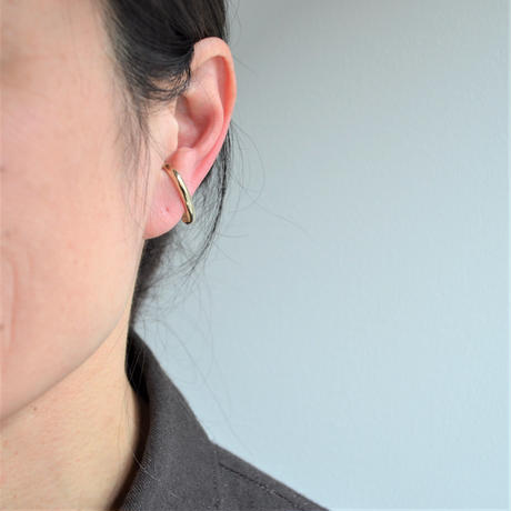 LIMITED COLLECTION 【3 metal stars & freshwater pearl & gold chain earring ( gold )】