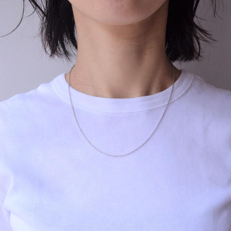 Basic chain necklace (silver / thin)