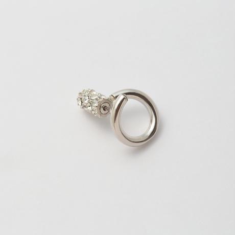 Silver line pierce(8㎜ line/Front type/swarovski elements/Silver catch)