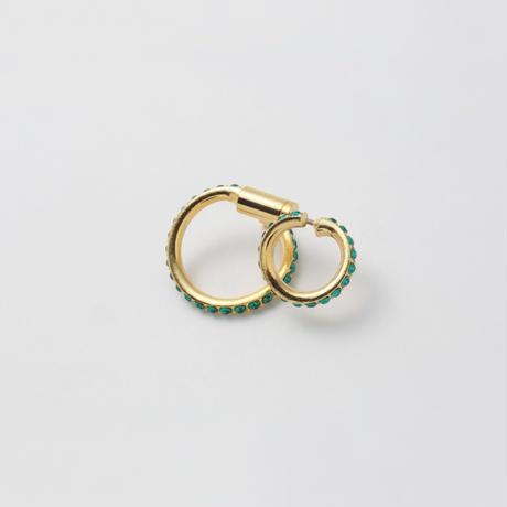 Emerald line pierce(8㎜ line×19㎜ line/swarovski elements)