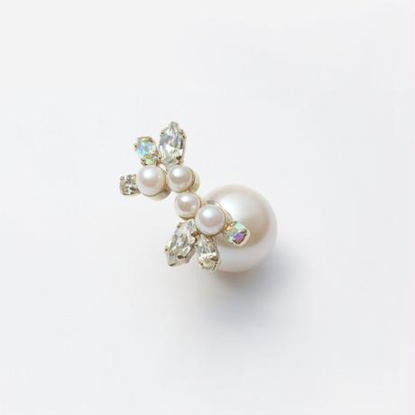 bijoux pierce (pearl×swarovski / large)
