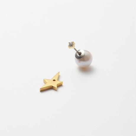2way star pierce (cubic zirconia/9mm pearl catch)