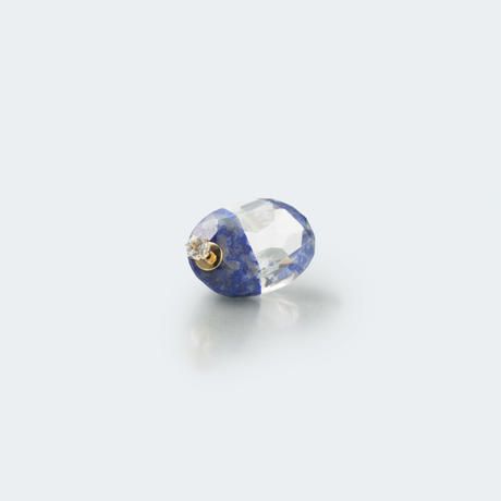 semi precious stone pierce (oval / blue)