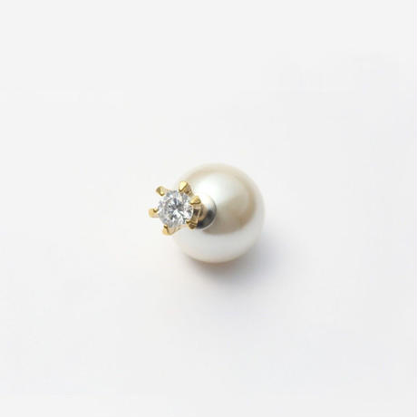 cubic zirconia pierce (large / gold)
