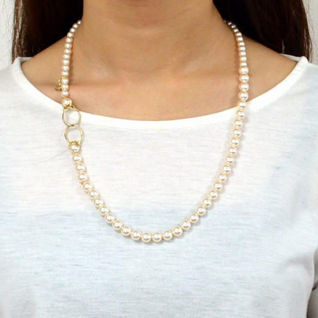 pearl necklace (6mm×8mm pearl / 60cm)