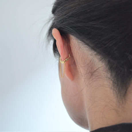 LIMITED COLLECTION 【Thin chain earring (gold × gold)】