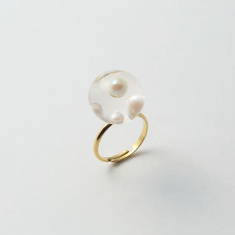 inclusion ring(4 pearls /small )