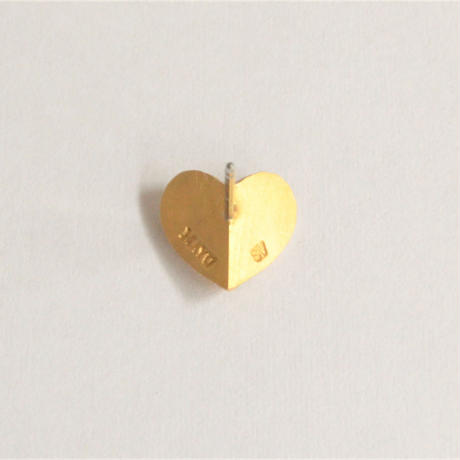 【ORDER】Tiny heart line stone pierce (gold / cubic zirconia / pearl clasp)
