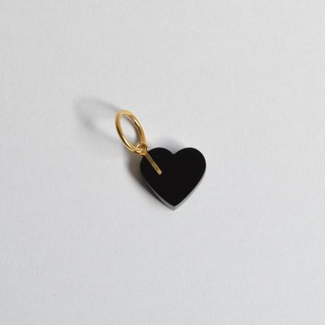 Heart charm (Onyx)