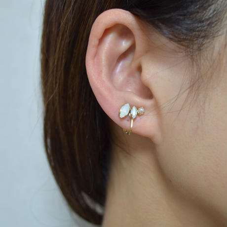 bijoux 2 crystals, pearl earring (Crystals , Pearl Mix, milky white)
