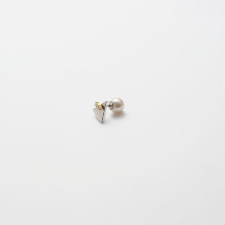 7mm silver triangle pierce