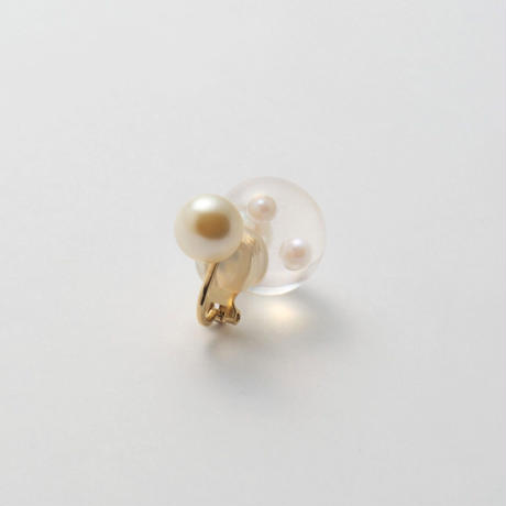 inclusion earring (4 pieces pearls /white)