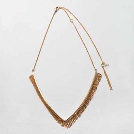 Fringe Necklace(Vtype/Gold)