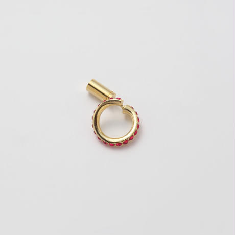 Ruby line pierce(8㎜ line/Vertical type/Swarovski elements)