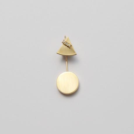 12mm triangle / k10 post pierced earring
