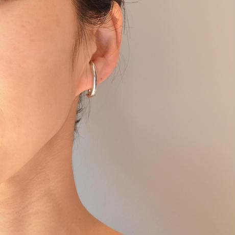 LIMITED COLLECTION【silver chain earring ( silver ball chain / pave star )】