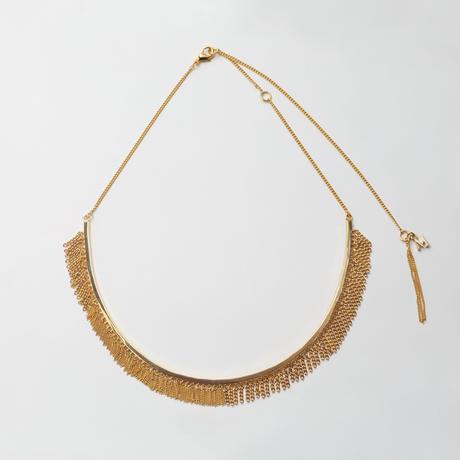 Fringe Necklace(Round type/Gold)