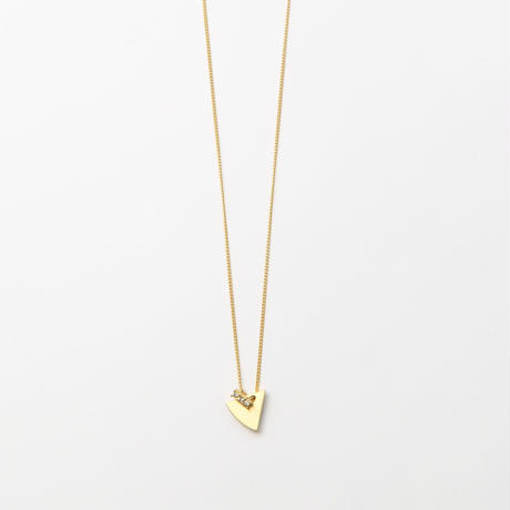 12mm gold triangle necklace