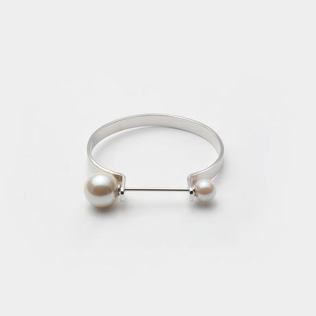 tiepin bangle (6mm / silver)