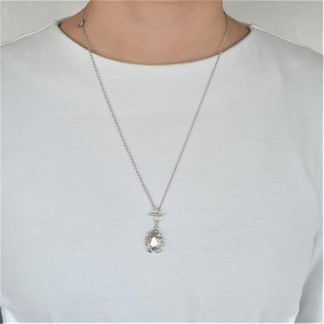 metal stone necklace (silver / silver925)