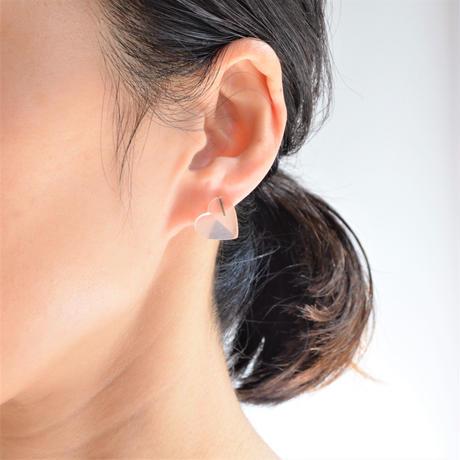 Heart pierced earring (Rose quartz / K10 post)
