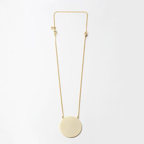 moon necklace (40mm / mat×mirror gold)