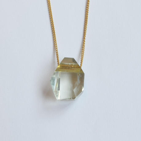 Kaleido necklace (Green amethyst / random)