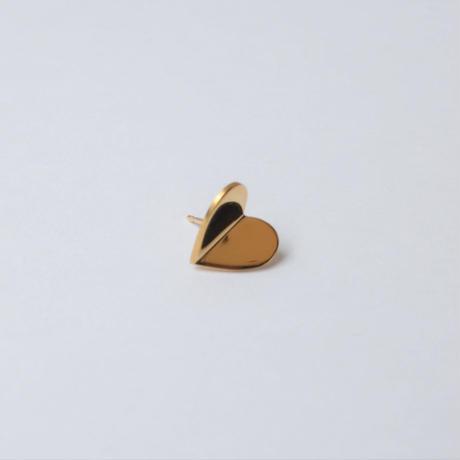 Tiny heart pierce (gold /  shine gold tube clasp)