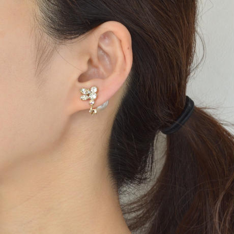 bijoux earring(crystal/small)