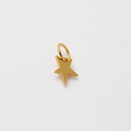 Tiny star line stone charm (gold / cubic zirconia)