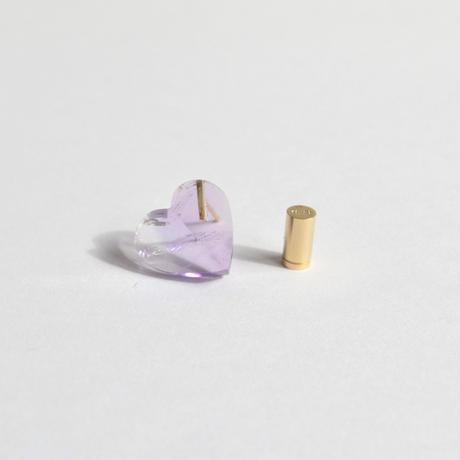 Heart pierced earring (Amethyst / K10 post)