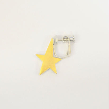 star earring (reversible / small / gold / silver)